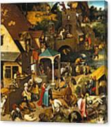 The Dutch Proverbs Canvas Print