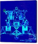 The Eagle Apollo Lunar Module In Blue Canvas Print