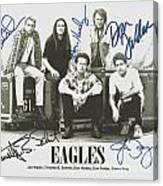 The Eagles Autographed Canvas Print