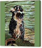 The Early Berner Catcheth Phone Canvas Print
