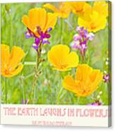 The Earth Laughs In Flowers Digital Art Canvas Print