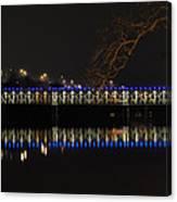 The East Falls Bridge At Night - Philadelphia Canvas Print