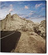 The Edge Of The Badlands Canvas Print