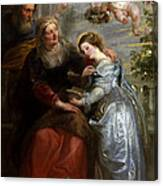 The Education Of The Virgin Canvas Print