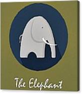 The Elephant Cute Portrait Canvas Print