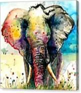 The Rainbow Elephant - Xxl Format Art Print Canvas Print