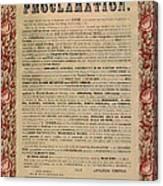 The Emancipation Proclamation Canvas Print