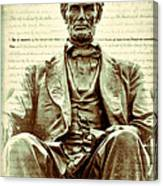 The  Emancipation Proclamation And Abraham Lincoln Canvas Print