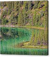 The Emerald Green Waters Of Emerald Canvas Print