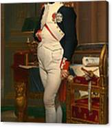 The Emperor Napoleon In His Study 1812 Canvas Print