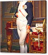The Emperor Napoleon In His Study At The Tuileries By Jacques Louis David Canvas Print
