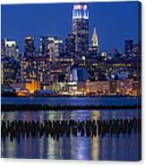 The Empire State Building Pastels Esb Canvas Print