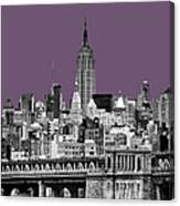 The Empire State Building Plum Canvas Print