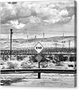The End Bw Canvas Print