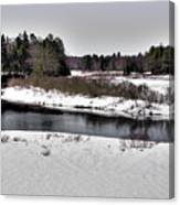 The End Of Winter On The Moose River Canvas Print