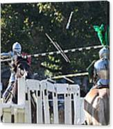 The End To The Jousting Contest  Canvas Print