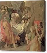 The Entombment Of Christ Canvas Print