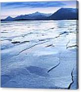 The Entrance To The East Fjords Iceland Canvas Print
