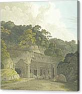 The Entrance To The Elephanta Cave Canvas Print