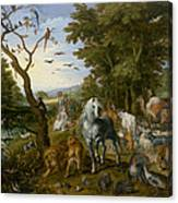 The Entry Of The Animals Into Noahs Ark Canvas Print