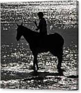 The Equestrian-silhouette Canvas Print