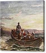 The Escape Of Mary Queen Of Scots Canvas Print