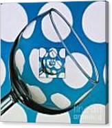 The Eternal Glass Light Blue Canvas Print