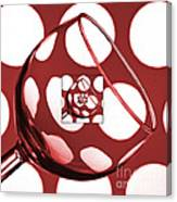 The Eternal Glass Red Canvas Print
