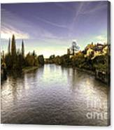 The Exe At Tiverton  Canvas Print