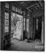 The Exit Bw Canvas Print