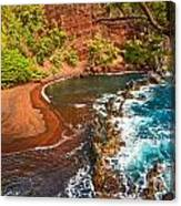 The Exotic And Stunning Red Sand Beach On Maui Canvas Print