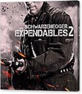 The Expendables 2 Schwarzenegger Canvas Print