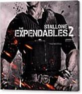 The Expendables 2 Stallone Canvas Print