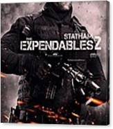 The Expendables 2 Statham Canvas Print