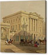 The Exterior Of Apsley House, 1853 Canvas Print