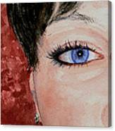 The Eyes Have It - Nicole Canvas Print