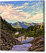 The Eyes Of The Mountain. Canvas Print