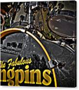 The Fabulous Kingpins Drums Canvas Print