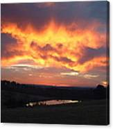 The Sunrise Face In The Clouds Canvas Print