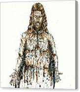 The Faces Of  Body Of Jesus Christ Canvas Print