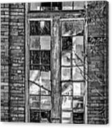 The Factory Window Bw Canvas Print