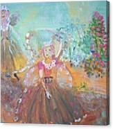 The Fairies And The Artist Canvas Print
