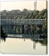 The Falls Bridge Over The Schuylkill River Canvas Print