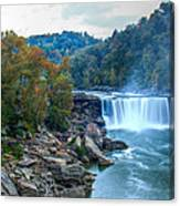 The Falls In Fall Canvas Print