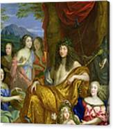 The Family Of Louis Xiv 1638-1715 1670 Oil On Canvas Detail Of 60094 Canvas Print