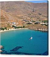 The Famous Psili Ammos Beach Canvas Print