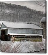 The Farm By The Creek Canvas Print