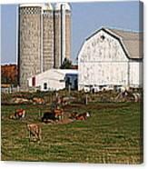 The Farm In Autumn Canvas Print
