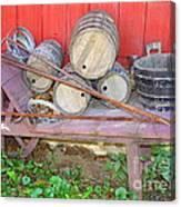 The Farmer's Old Wheelbarrow Canvas Print
