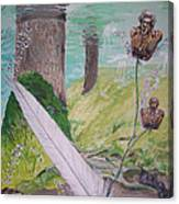 The Feather And The Word La Pluma Y La Palabra Canvas Print